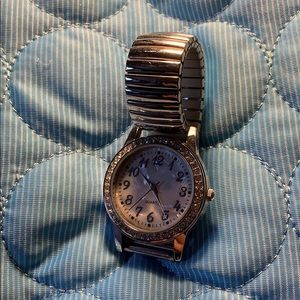 Avon Jewelry - Stainless steel mother of pearl crystal watch